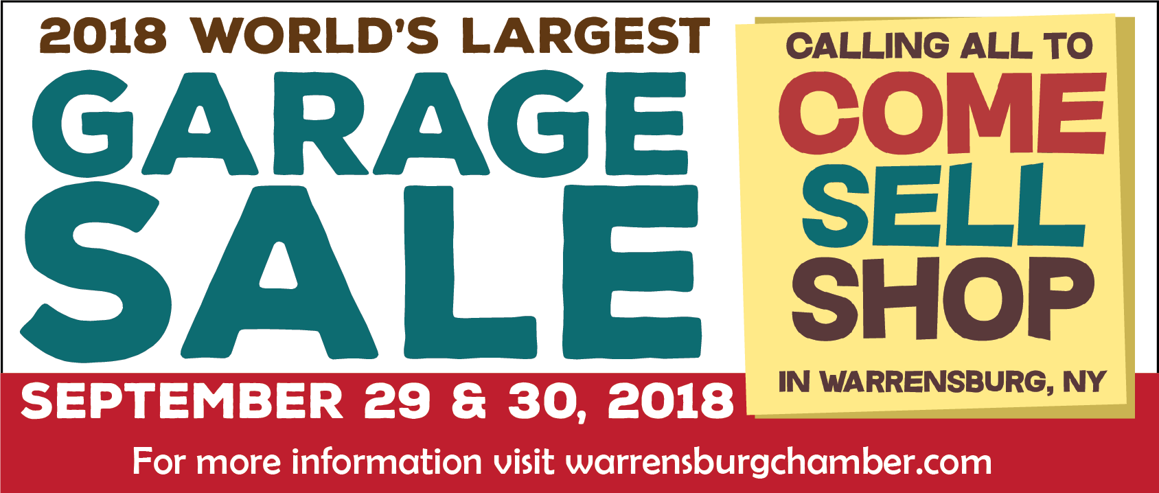 Word's Largest Garage Sale Warrensburg NY